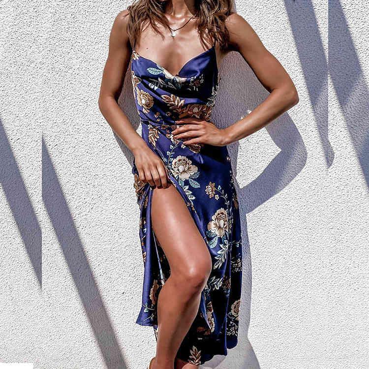 Robewomen's Vêtements Printemps et été 2021 Sling Split Sexy Cut Split
