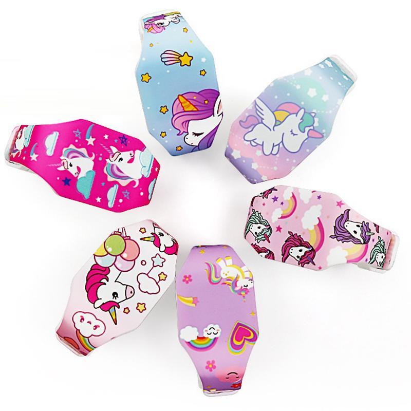 50 stücke Mode Mädchen Kinder Sport Unicorn Digital LED Uhren Outdoor Schöne Kinder Geschenk Studenten Regenbogen Geburtstagsfeier Armbanduhr Uhr