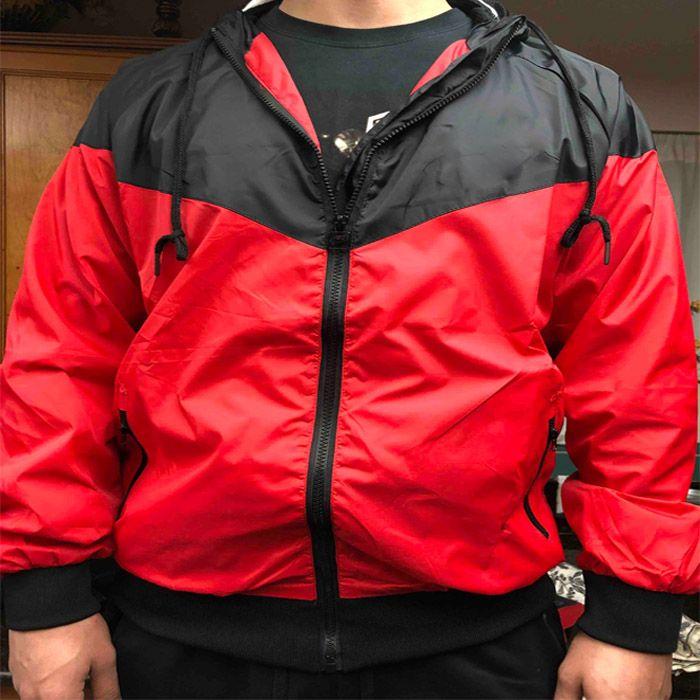 الرجال سترة معطف الرياضة البلوز الخريف قميص مع طويلة الأكمام سستة سترة واقية الرجال الملابس بلون مغاير