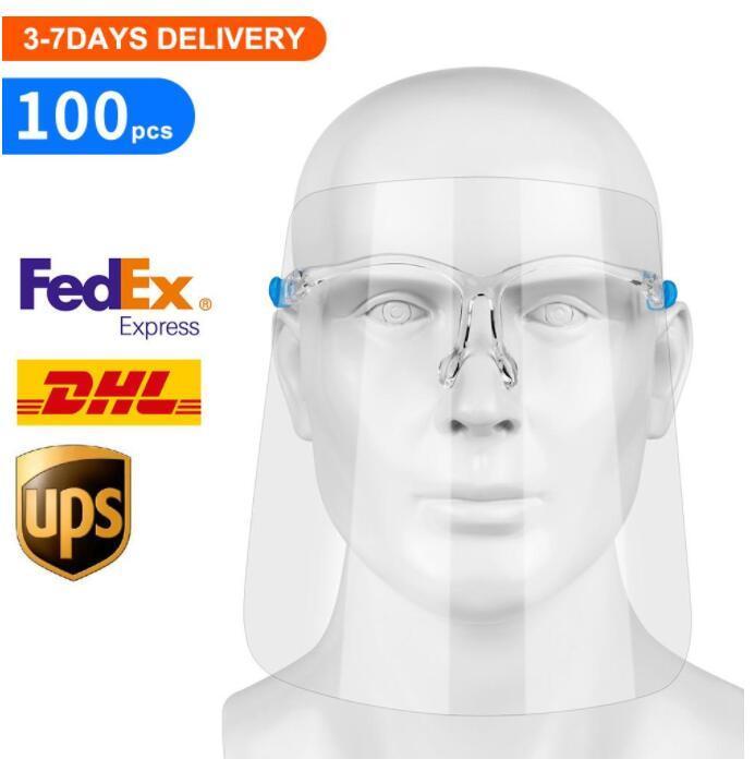 1PC 보호 얼굴 방패, 재사용 가능한 안경 및 교체 가능한 방패로 물방울 및 타액에서 완전히 투명한 얼굴 및 눈 보호