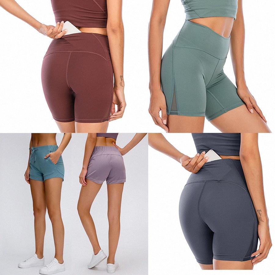 2021 Estilista para mujer Lu Shorts Vfu Yoga Pantalones Leggings Yogaworld Mujeres Entrenamiento Fitness Juego de fitness Use LADIA ELASTICA MEDIAS LLASES SÓLIDOS P8JT #