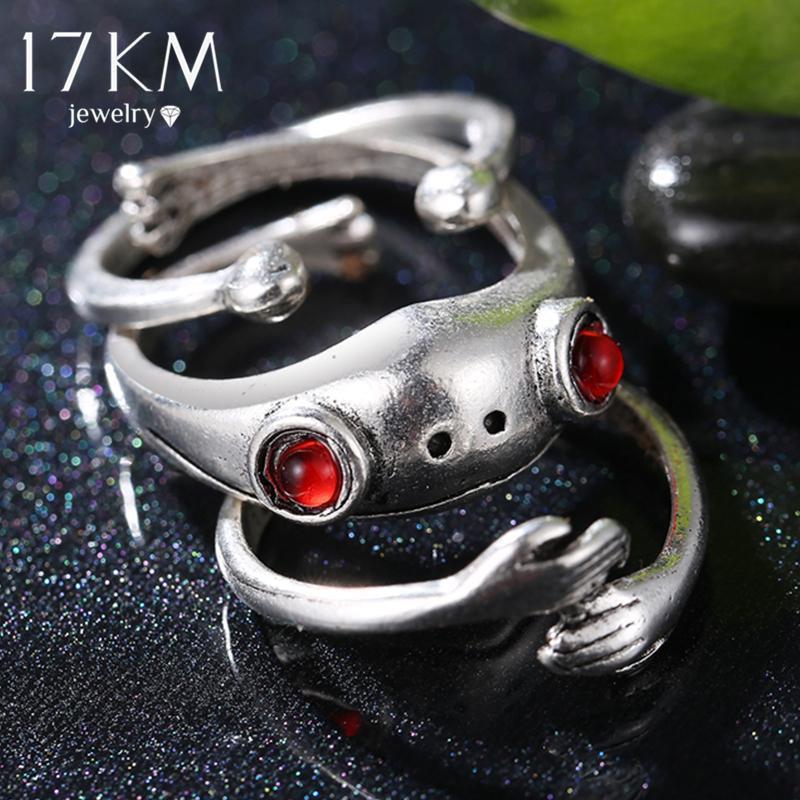 Bohemian Hug grenouilles Set pour femme Lover rétro Ancien Couleur d'argent Animal Ouverture hommes Figure Bijoux Bijoux Coussin