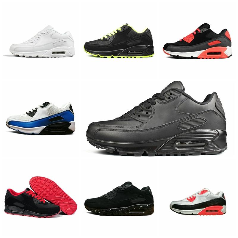 Nike air Max 90  2020 Orca Knit 2.0 Chaussures Triple Multi Color Platinu Pure White Dusty Cactus marine minuit Hommes Femmes Sneakers