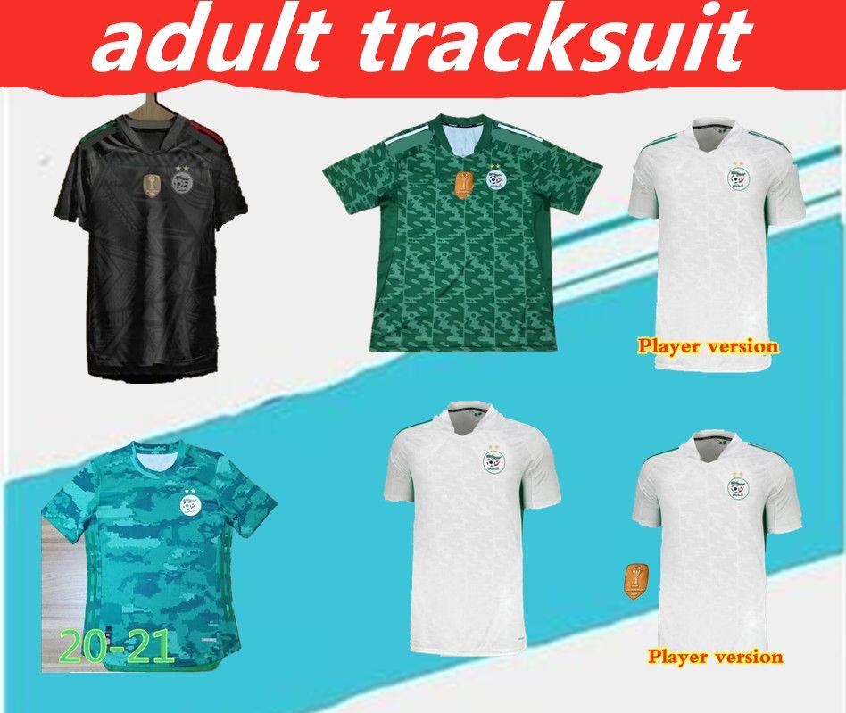 2020 En İyi Tayland Maillot Cezayir Oyuncu Versiyonu ve Hayranları Futbol Forması Eve Awai Mahrez Bounedjah Feghouli Bennacer Atal 20 21 Cezayir Maillot