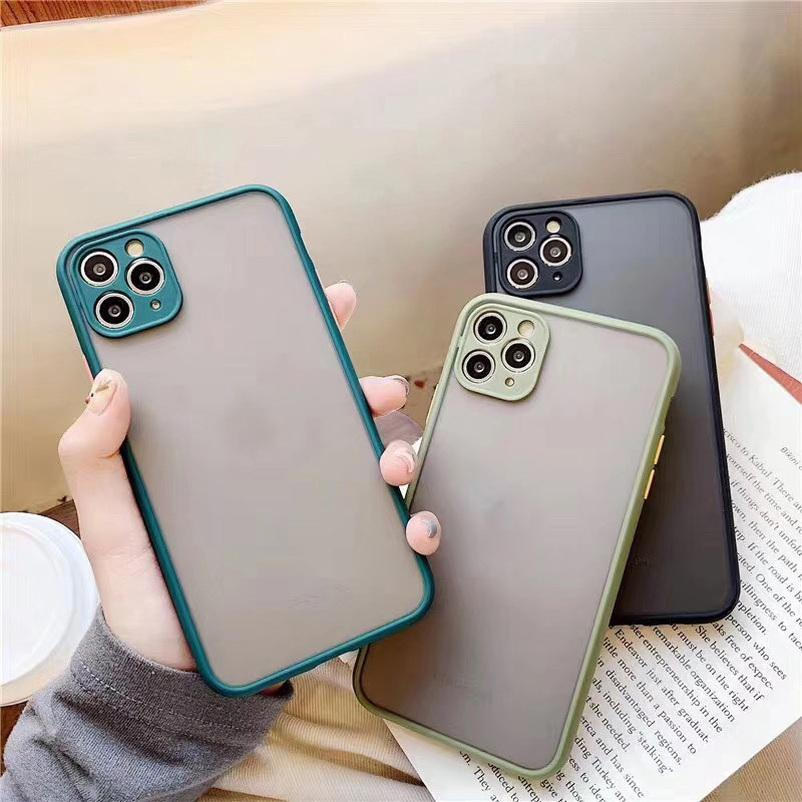 Square Bumper Cases Transparent Phone Case For iPhone 11 Pro Max XR XS 7 8 Plus X SE Camera Protection Hard Back Cover