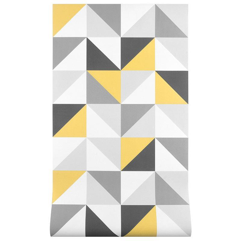 Стиль Nordic Wallpaper Art Geometric Square Rattictice Ins Harajuku в японском стиле кровать комната фон обои