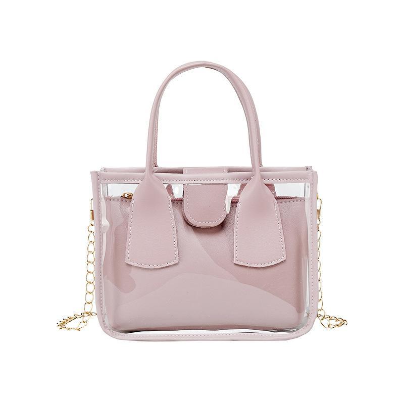 Hbp moda tote 2021 moderno estilo geléia pvc transparente mulher bolsas bolsa bolsa senhoras saco de mão