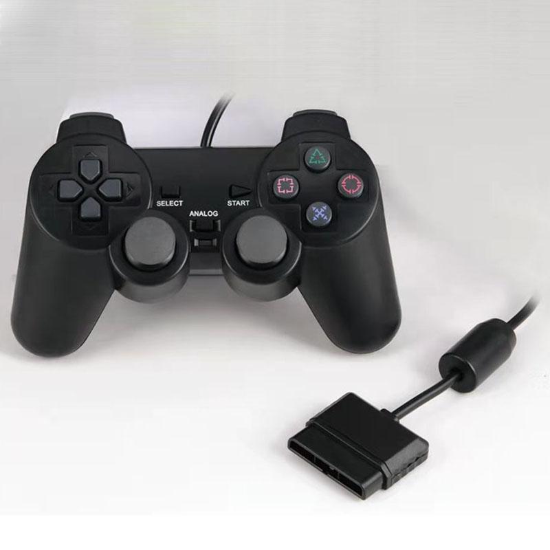Kablolu Denetleyici Kolu PS2 Titreşim Modu Yüksek Kaliteli Oyun Kontrolörleri Joysticks Uygulanabilir Ürünler PS2 Host Siyah Renk