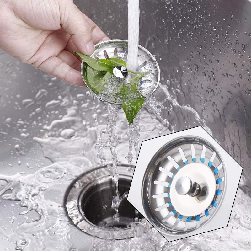 Outro banheiro fornece filtro de cesta universal para pia offset / aço inoxidável cozinha drena coador banheiro segregar lixo stra