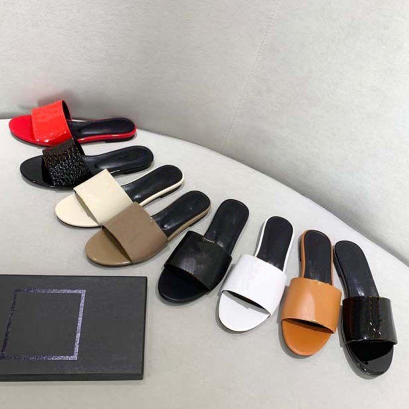 Top Quality Mulheres Sapatos Luxurys Designers Sanals Sandálias Verão Praia Ao Ar Livre Chinelos Cool Moda Lady Doméstica Slide Flip Flip Flops com Box Home011 15