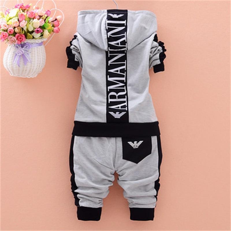 2 Piece çocuk giyim seti sonbahar 2020 yeni pamuk uzun kollu fermuar bebek erkek giyim ceket kapüşonlu spor takım elbise 1xq # 712 Y2