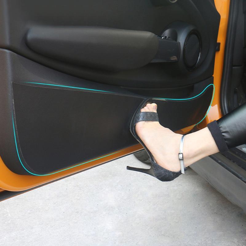 Voiture en cuir Panneau de porte interne Panneau de protection Mat Anti-Kick Pad Sticker pour Mini Cooper R56 R60 F54 Clubman F55 F56 F56 F60 Paysman Autre intérieur