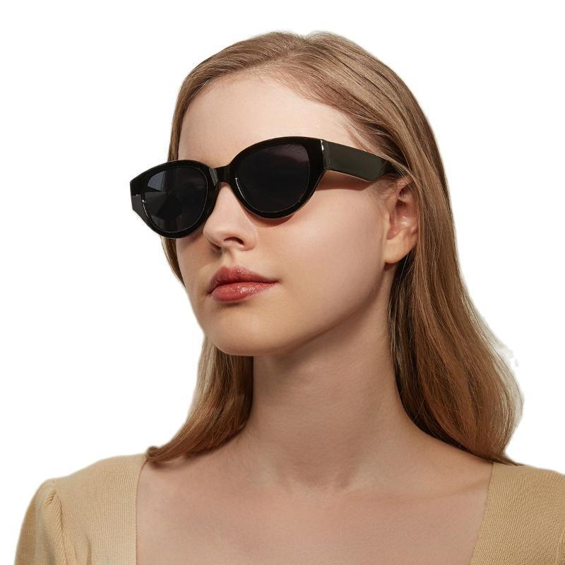 Lunettes de soleil Lionlk Fashion Cat Eye Jelly Couleur Femmes Femmes Retro Brand Anti-Glare Uv400 Designer Sun Lunettes 2021 Vert Rose