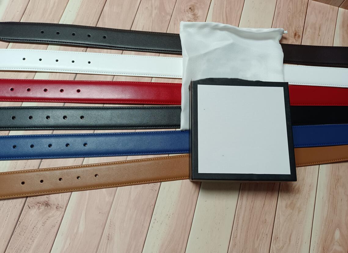 고품질 벨트 여성 정품 가죽 골든 실버 청동 G 버클 디자이너 쇠가죽 벨트 남자 럭셔리 6 색 38 mm 상자와 함께 캐리