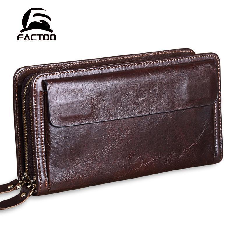 Von Herrenkupplung Brieftasche Tasche Leder Business männer factoo celhide case kleine schicht erste wallterwechsel karte karte die handy tasche hdfvj