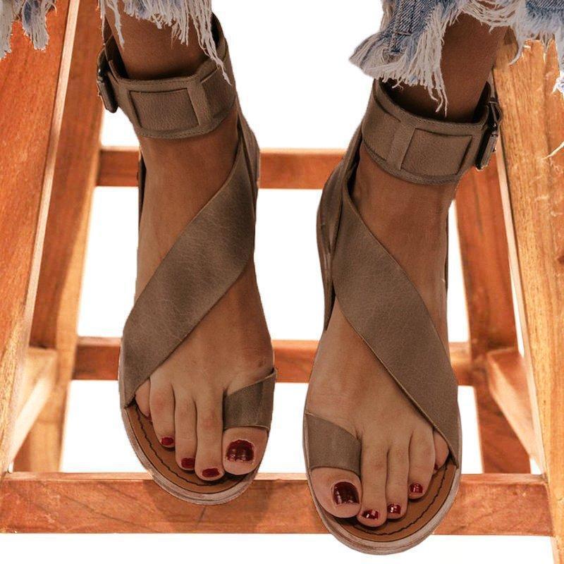 Donne fibbia cinturino spiaggia sandali estivi appartamenti casual scarpe casual donna apertura toe pupa flat moda sandalias mujer sapato feminino