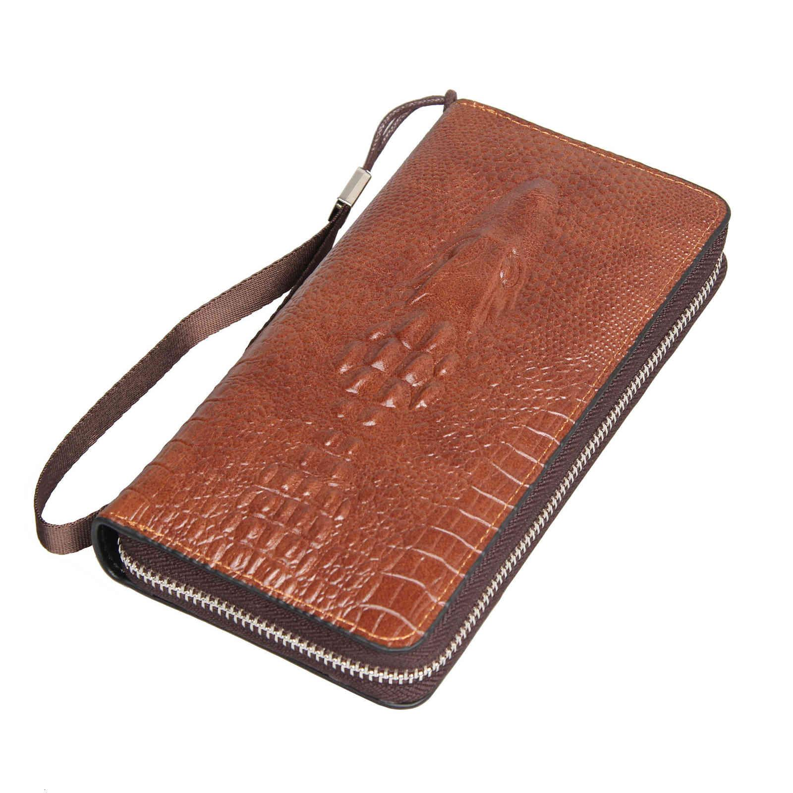 Billetera de billetes de billetes grandes de billetera Cocodrilo largo Bolso de función multi-Función Bolsa de teléfono móvil