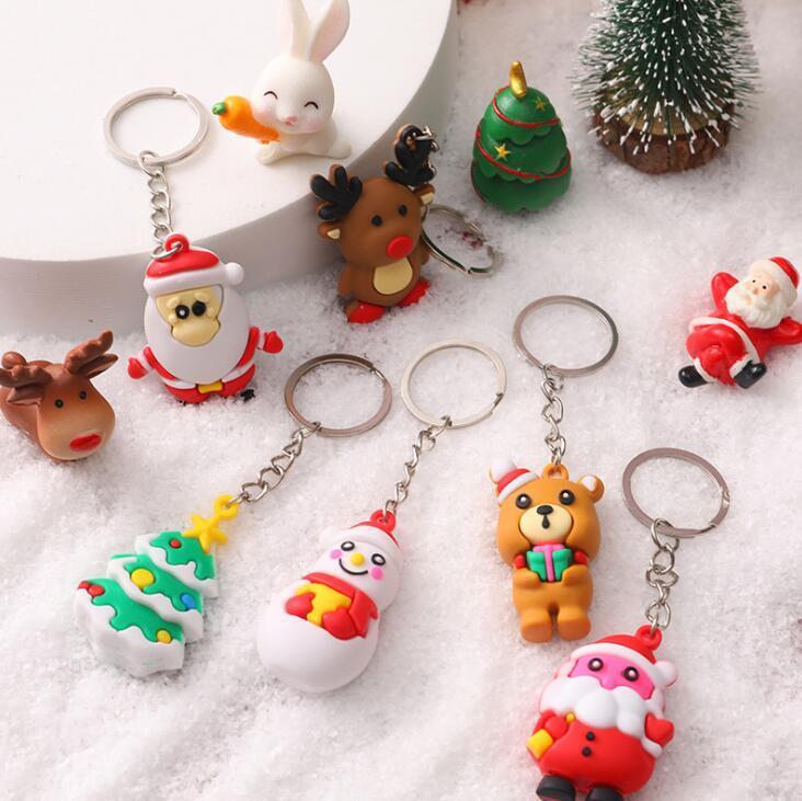 만화 크리스마스 시리즈 키 체인 휴가 선물 가방 장식품 작은 펜 던 트 학생 학교 가방 장식 키 체인
