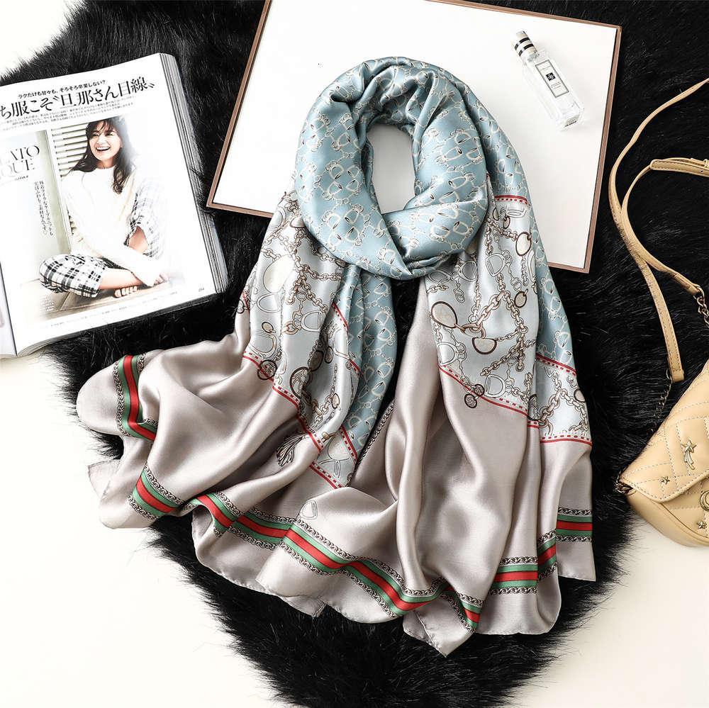 DesignerSpring di alta qualità Estate autunno autunno inverno nuova catena di stampa da donna SCREEN Sciarpa Sciarpa Dual Scopo Silk Asciugamano
