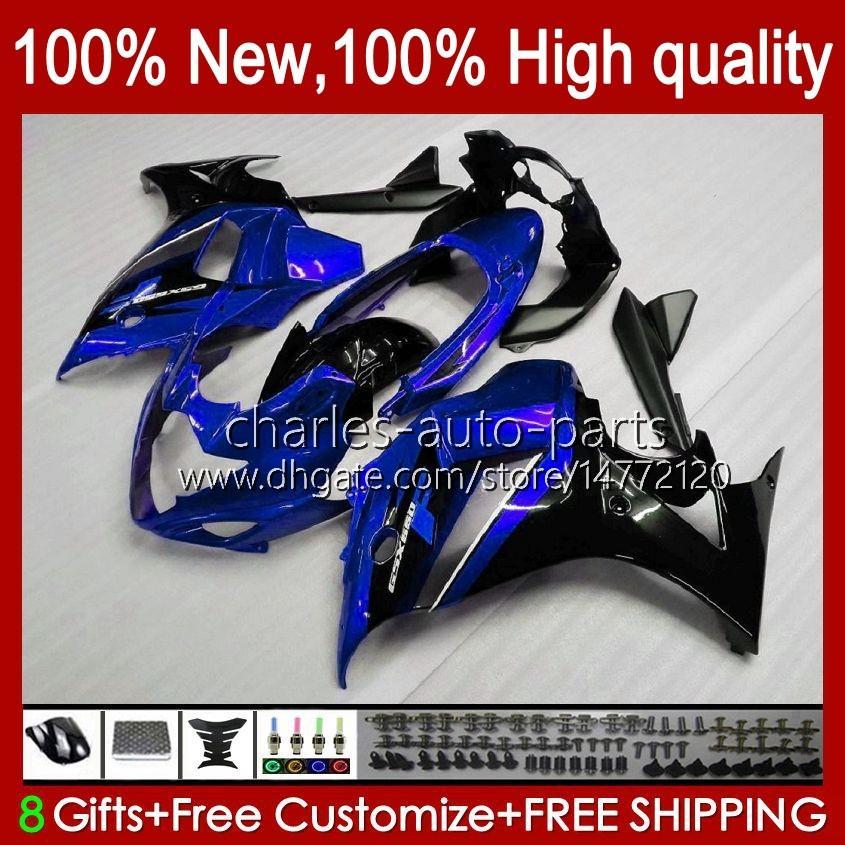 Lichaam voor Suzuki Katana GSXF 650 GSXF650 GSX650F Glanzend Blue BodyWorks 18HC.19 GSX-650F 2008 2009 2010 2011 2012 2013 2014 GSX 650F GSXF-650 08 09 10 11 12 13 14 Kuip