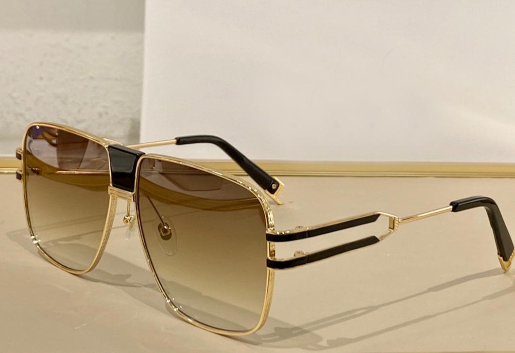 Высококачественные прямоугольные большие рамки мужские солнцезащитные очки золотые металлические рамки классические UV400 очки гальваническое спокойное стиль очки 1914