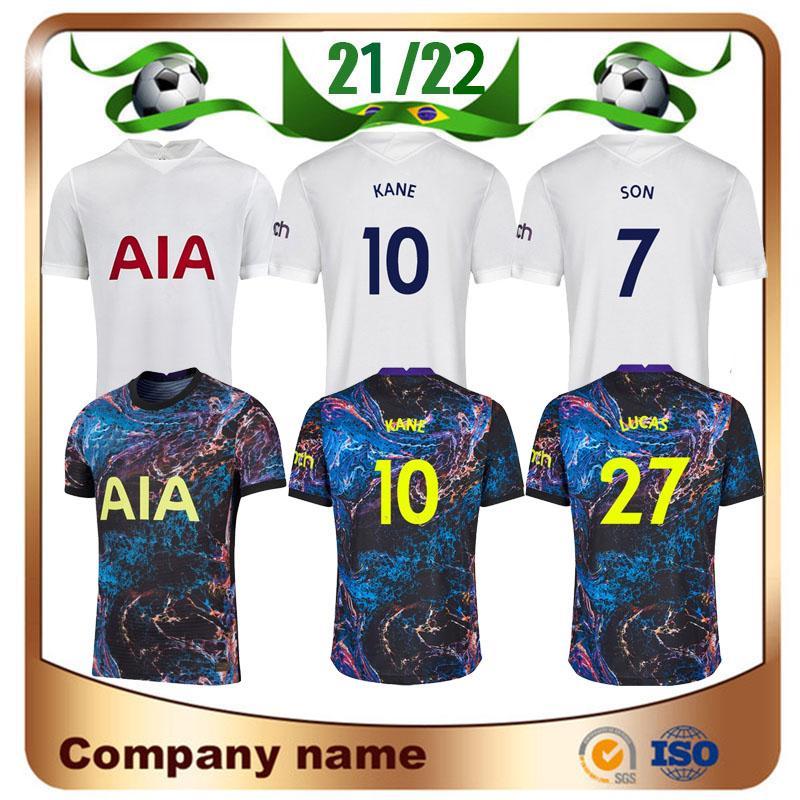 21/22 Casa # 9 Bale # 7 filho Jerseys 2021 de distância Kane Llorente Dele Maillots de pé Camiseta Lucas Quarto Uniforme de Futebol