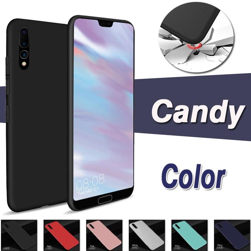 10pcs Matte Silm Soft TPU Case For Huawei P40 Pro P30 P20 Mate 30 20 X RS 10 Lite P Smart Z Plus Candy Shockproof Color Cover
