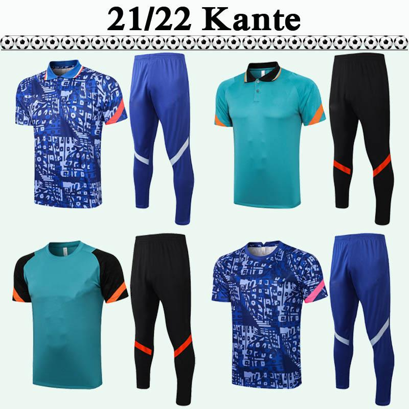 2021 2022 Kante Abraham Polo Polo Polo Polo Soccerys Kit adulte Werner Ziyech Havvertz Rudiger T.Silva Hommes Football Jersey Costume à manches courtes