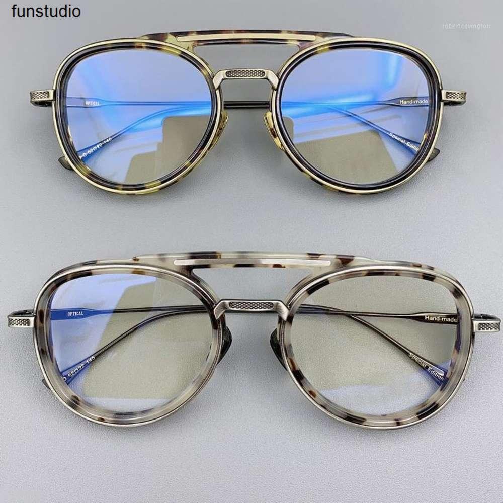 Acetate óculos quadro homens mulheres 2020 vintage piloto olho óculos prescrição óculos quadros limpar lente óculos oculos1