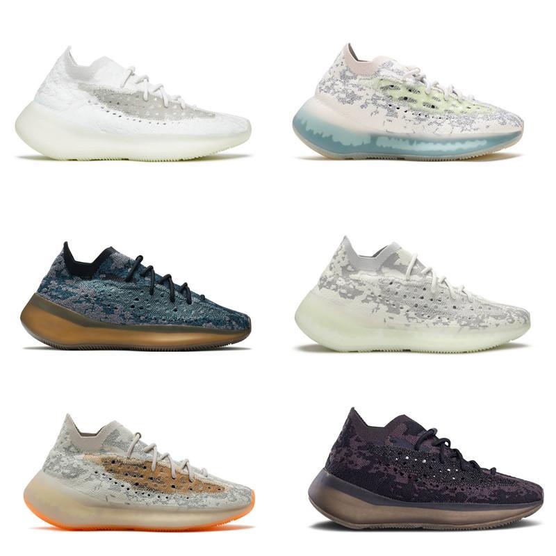 2021 Qualité Alien Bleu Running Chaussures Covellite Yecoraite Calcite Glow Glow Hommes Sneakers Mist Oat Black Violet Azur Pepper Reflectif avec Box Taille 4-13