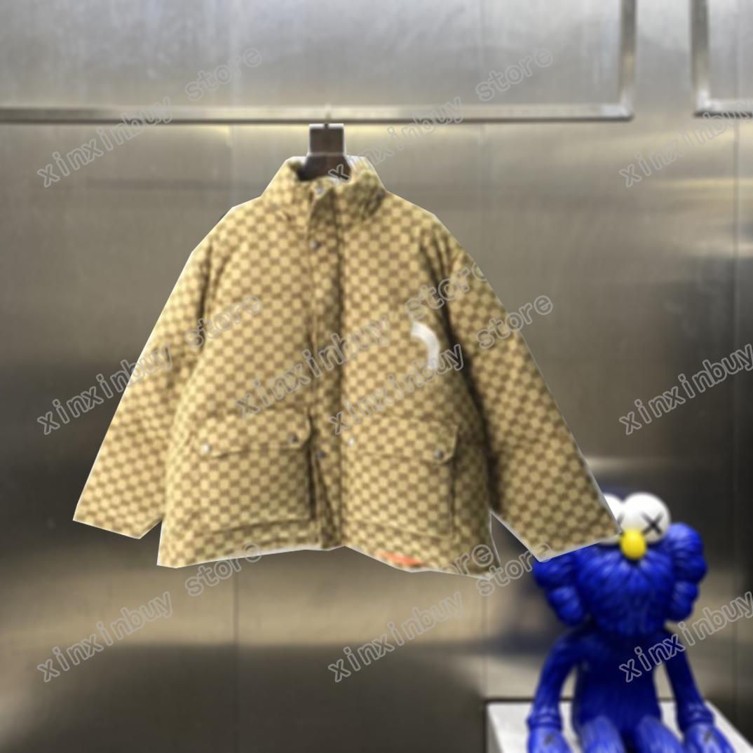 21SS Designer Designer Giacche down parkas con cappuccio lettera ricamo jacquard vestiti stand collare Mens Cappotti Cappotti Capispalla Abbigliamento nero Black Blue Grey Khaki Xinxin