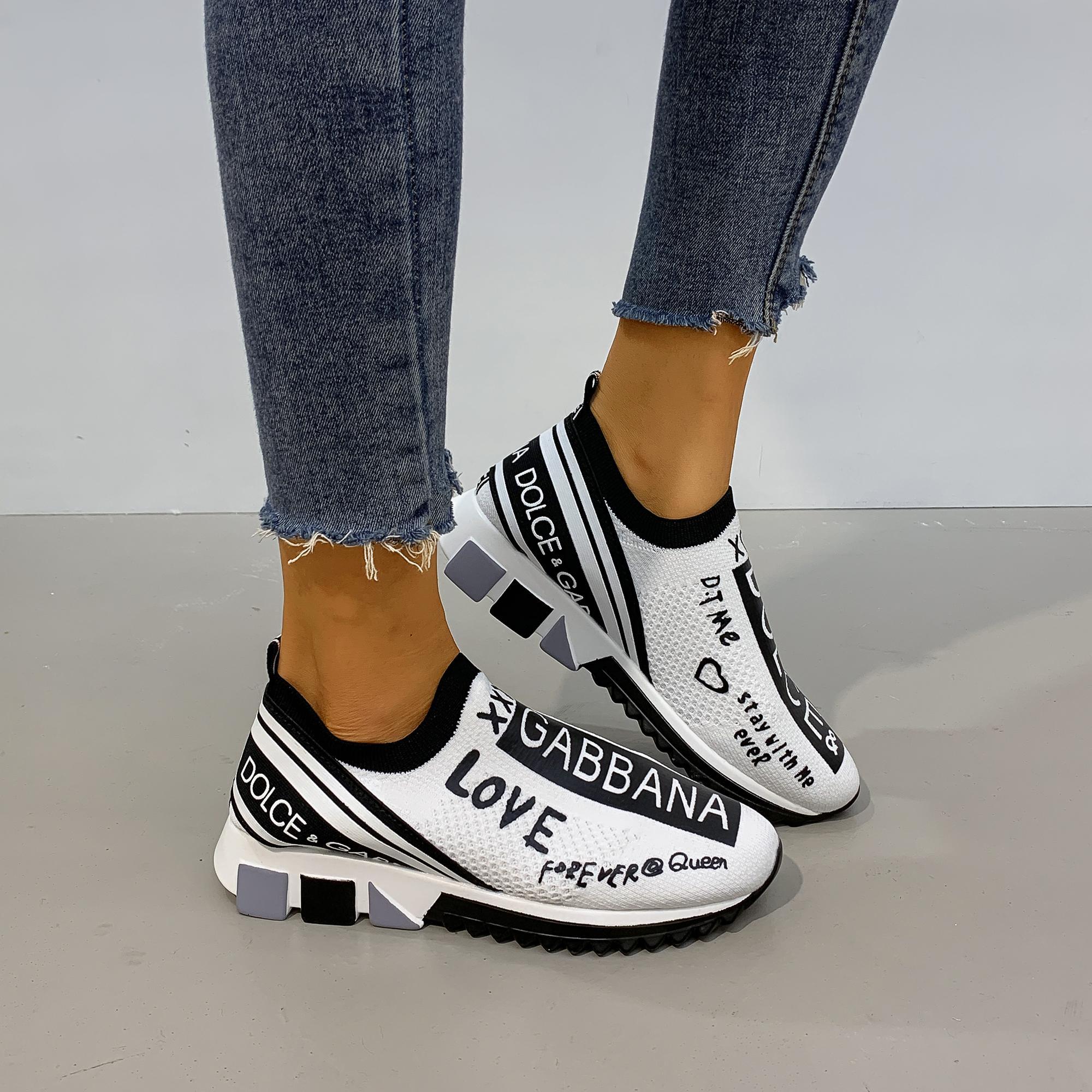New 2021 DG Mesh Sneakers Women Shoes Black White 2.0 Luxury Sock breathable Sneaker Men
