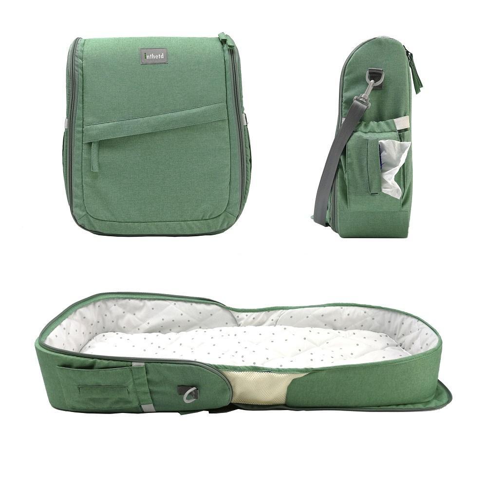 Мешок для подгузников Многофункциональный водонепроницаемый путешествия рюкзака подгузника для ухода за ребенком Большая емкость стильный и прочный апельсин
