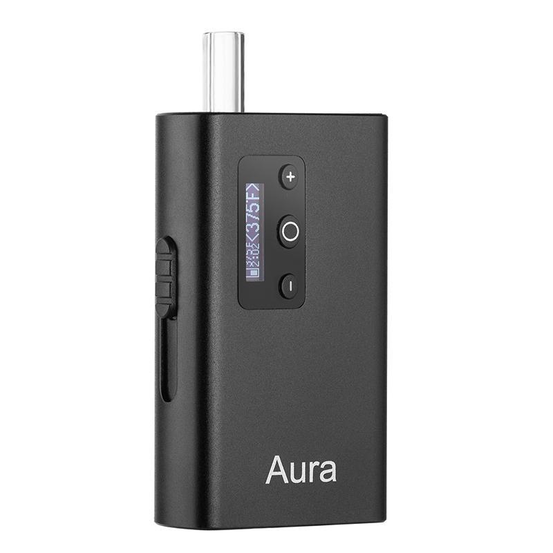 Orijinal Aura Kuru Herb Buharlaştırıcı Kiti ile 2200 mAh Pil Seramik Odası Taşınabilir Vape Pen E Poundatte Pod
