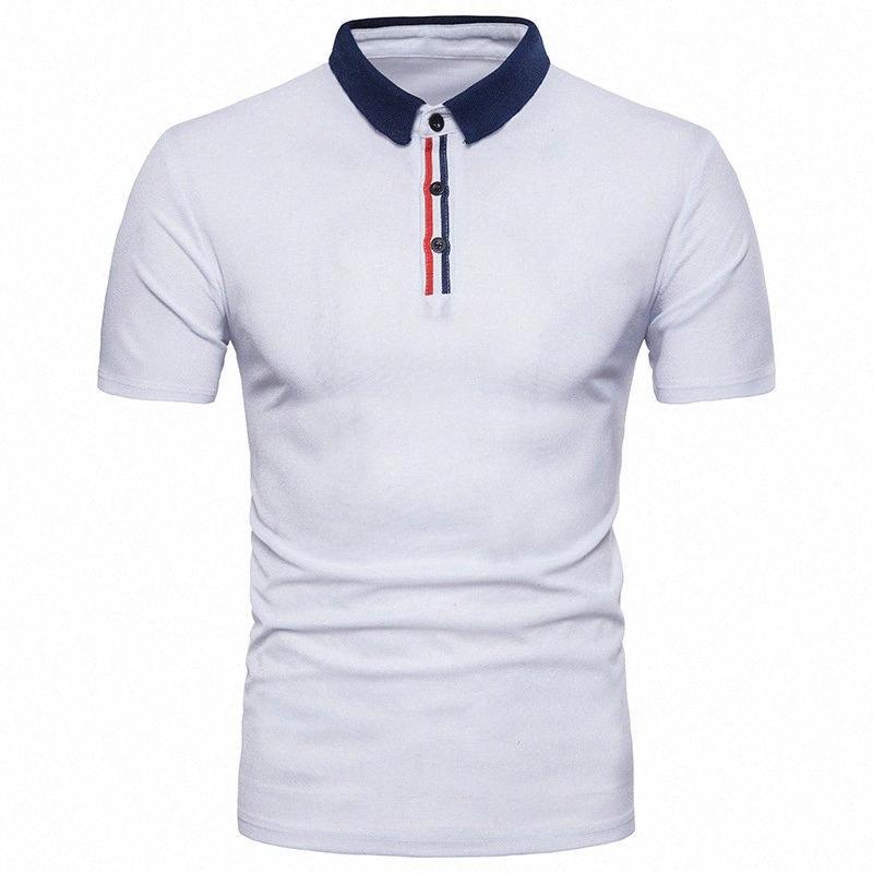 IEF.G.S erkek Yeni Yaz Moda Patchwork Katı Renk Iş Rahat Kısa Kollu Çizgili Gömlek Boyutu Avrupa Yards I2SO #