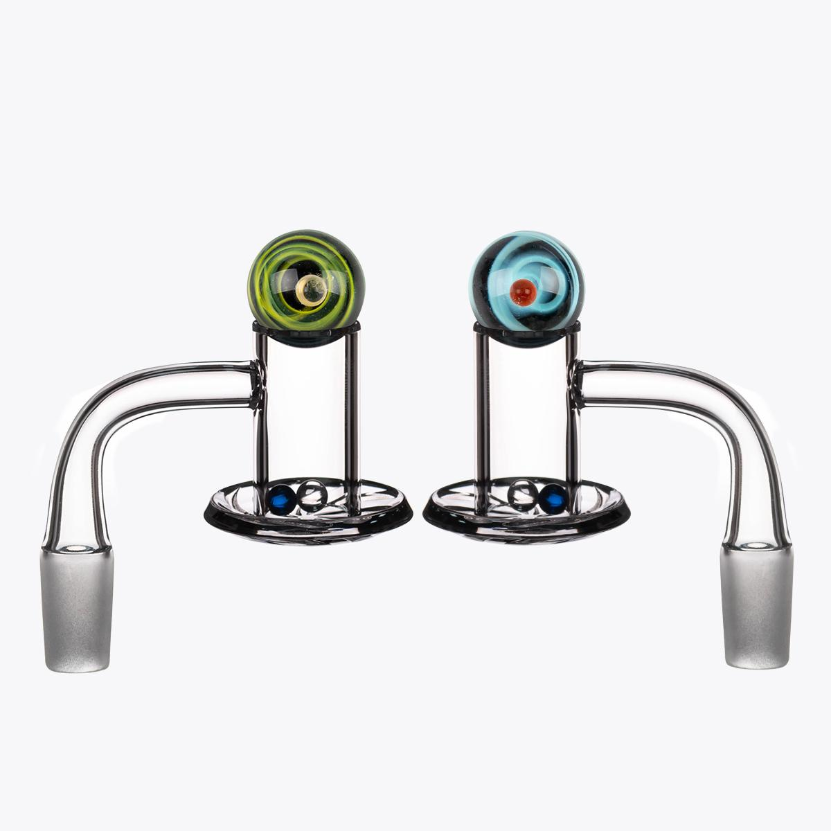 Acessórios para fumar Terp Slurper Banger de quartzo com esferas de vidro Beads 10mm 14mm 18mm Masculino feminino 45 ° 90 ° para água Bong