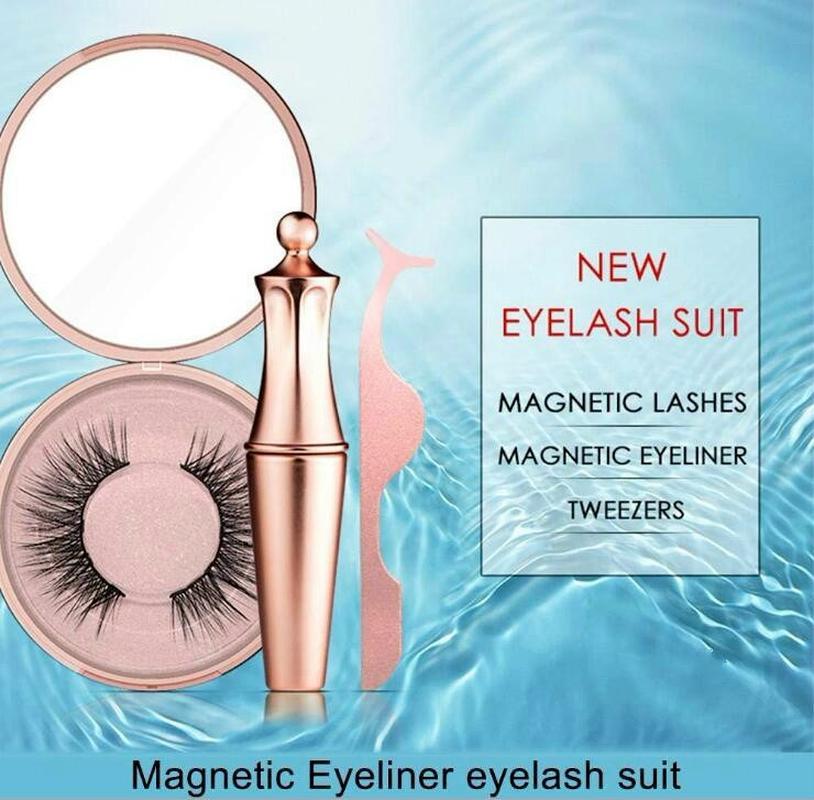 No glue Magnetic eyelashes Long lasting Reusable extension eyelash Comfortable Magnetic Eyeliner Five piece make up set makeup mink eyelash