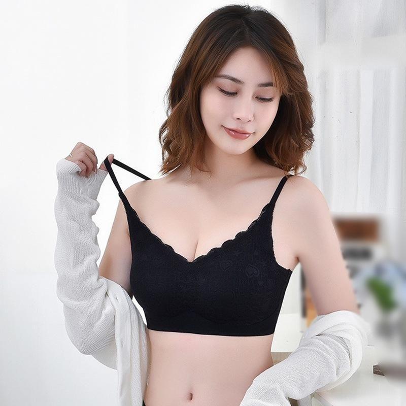 BRAS mulheres empurram para cima bralette underwear pad sutiã sem fio lingerie sem emenda de renda sexy