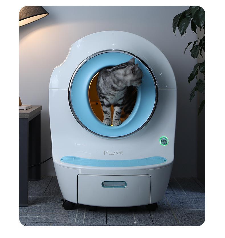 Diğer kedi malzemeleri kokusulama otomatik çöp havzası anti-splash akıllı tuvalet büyük ve yarı kapalı