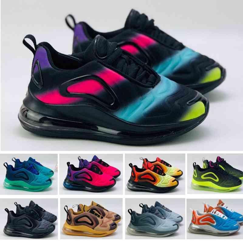 اللون 72c الهواء التنفس الأطفال أحذية الصبي فتاة الشباب طفل الرياضة حذاء رياضة الحجم 28-35