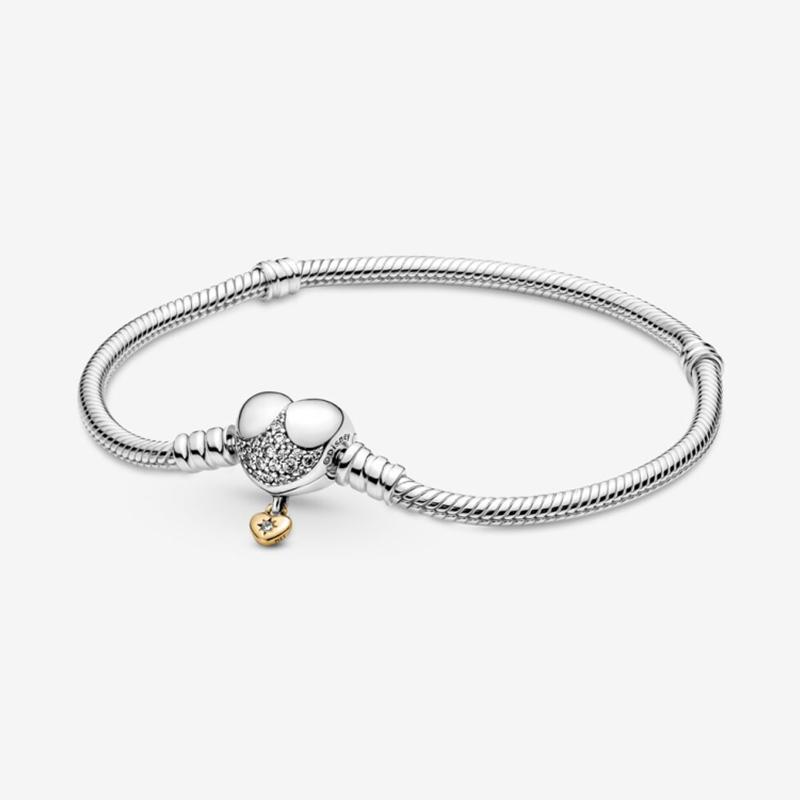New Jewelry Women Joyas De Plata 925 Fit Original Pandora DIY Design Fashion Gift Charm Beadeds Custom Accessories Sterling Silver Bracelets