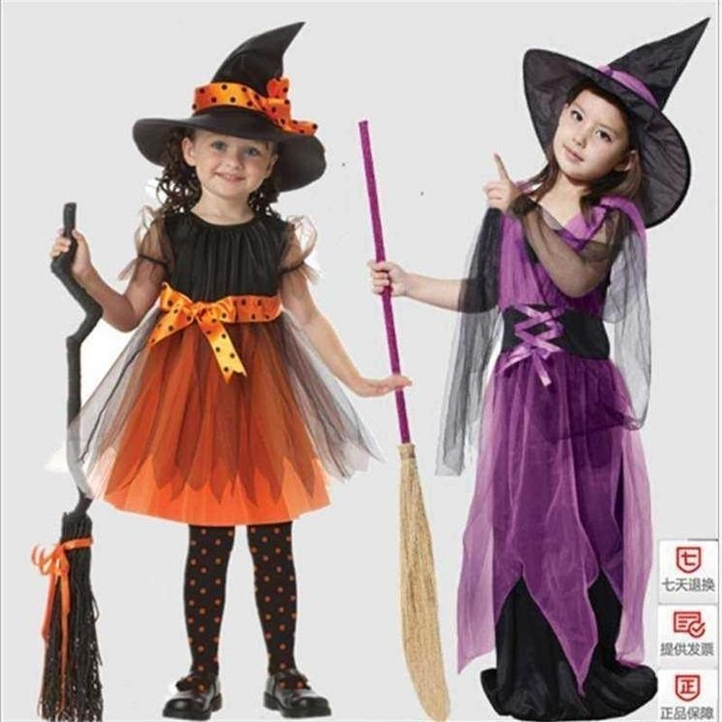 Children's Halloween little witch role play Cosplay performance Witch Costume kindergarten