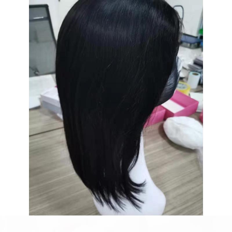 Perucas de laço de cabelo virgem bruta indiana sedosa reto 4x4 dianteira de renda bob peruca curto bob perucas por atacado cabelo remy