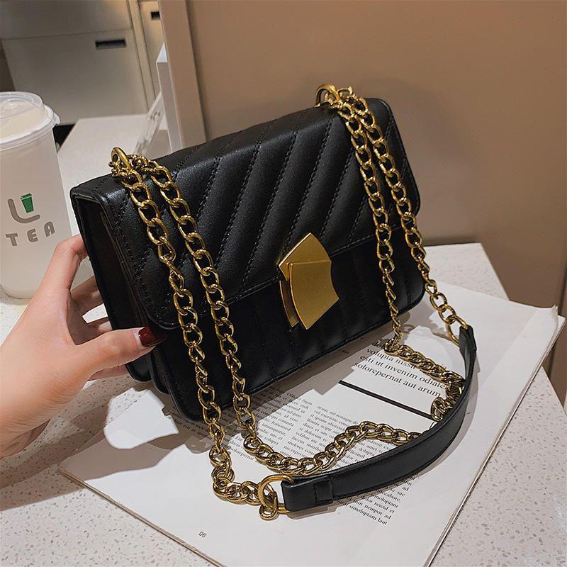 NEW designer brand bags women leather handbags Chain Solid Shoulder Bag mini bags Woman Messenger Bag purses and handbags C0326
