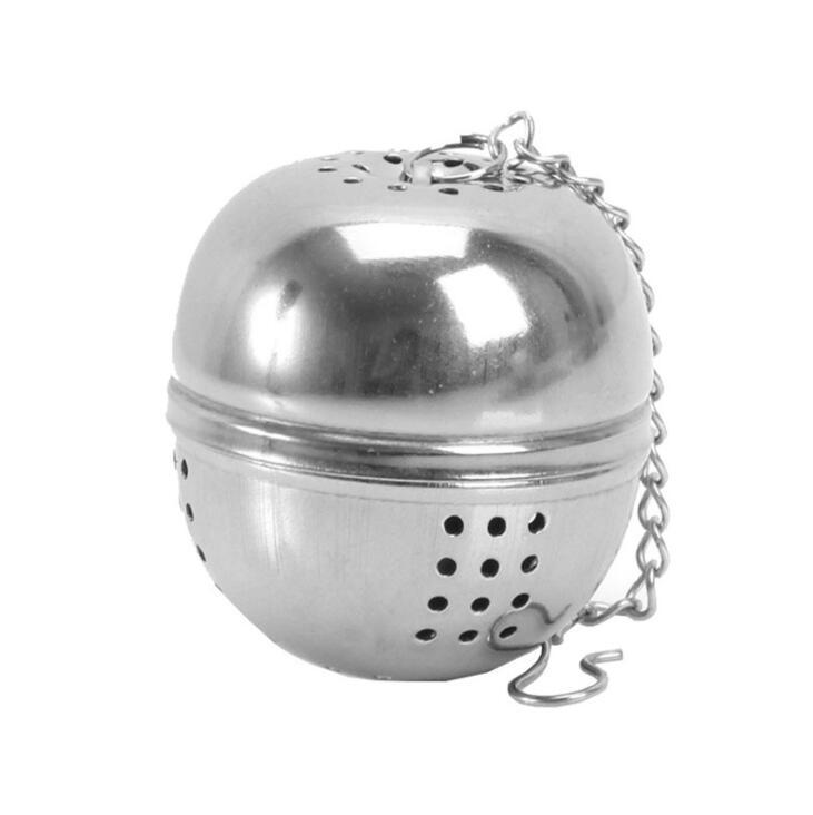 Thées à café Outils en acier inoxydable Filtre à boule en acier inoxydable Teakettles Infuser Filtre d'œuf en forme d'œuf Verrouillage Spice Boules attrayantes
