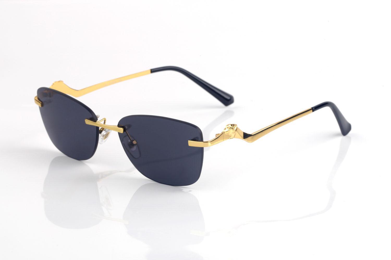 Erkekler için Çerçevesiz Güneş Gözlüğü Degrade Boy Şeffaf Lens Metal Tiny Tel Alaşım Düzensiz Çerçeve UV400 Kadınlar Vintage Güneş Gözlükleri Retro Gözlük Lunettes de Soleil