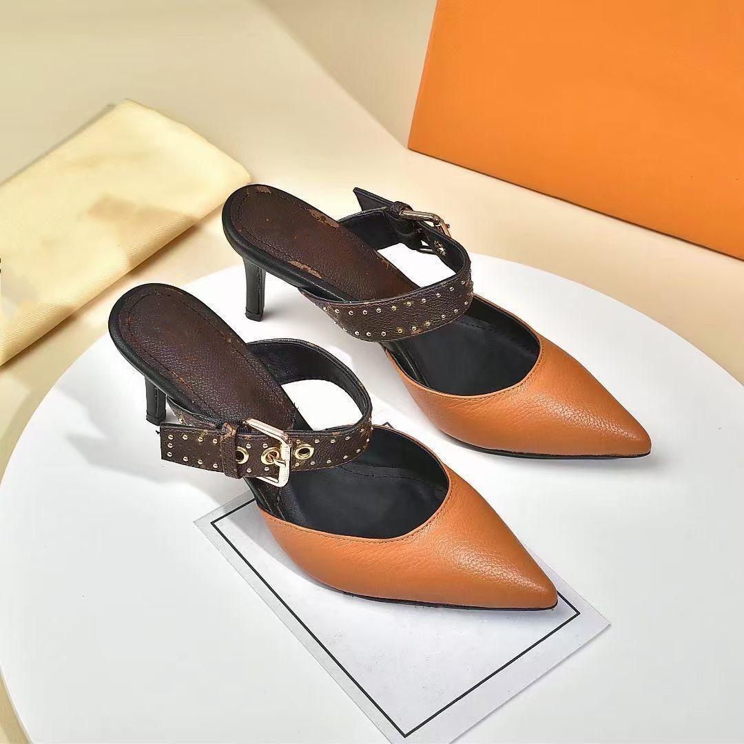 Luxurys 디자이너 신발 2021 패션 샌들 하이힐 고품질 모조 카운터 브랜드 샌들 하이힐 바오 토 괜 찮 아 요 멋진 슬리프