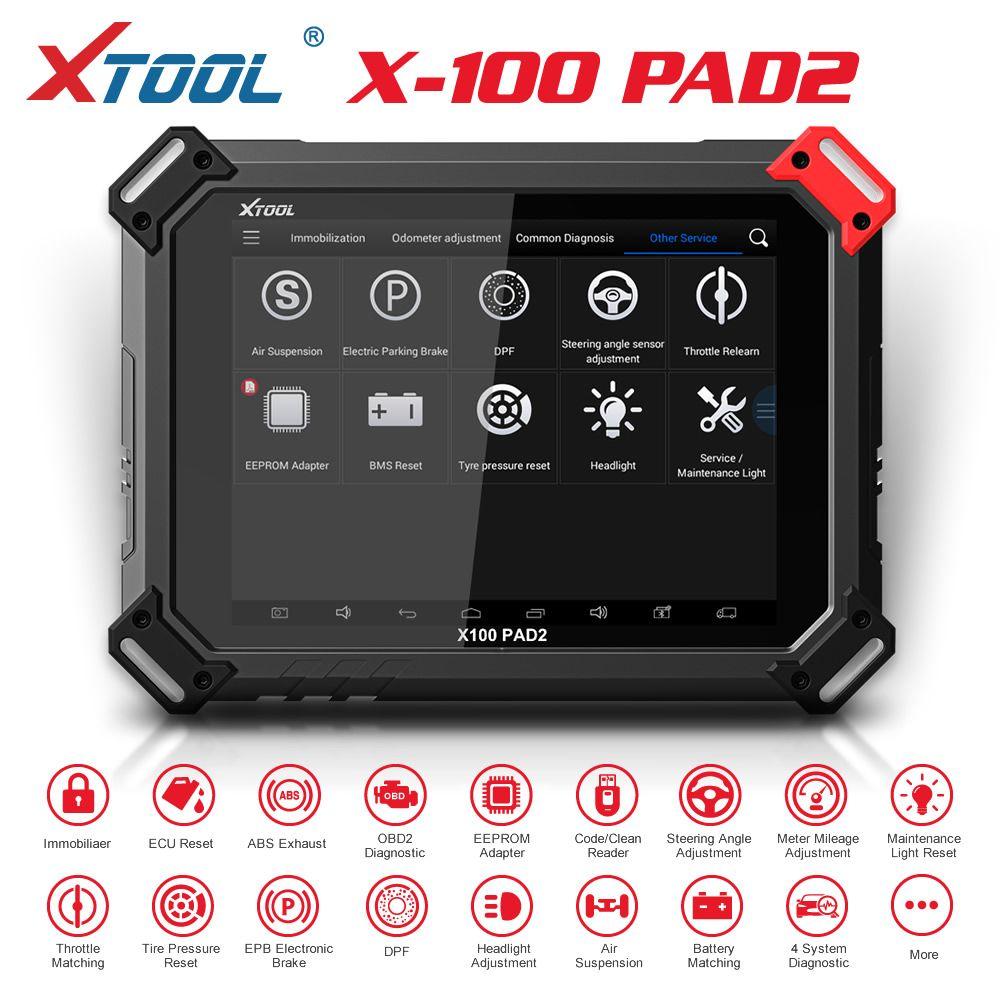 XTool X100 PAD2 OBD2 Auto Programador Chave Odômetro Ferramenta de Código de Correção Leitor Ferramenta Diagnóstico Com Função Especial