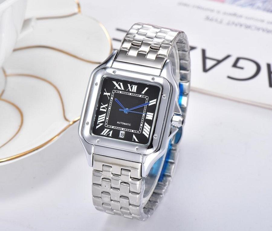 Vestito da donna di alta qualità Vestito da donna Suqare Quadrante Acciaio inox Acciaio inossidabile Band Fashion Quartz Watch per Laides Girl Regalo femminile Montre de Luxe