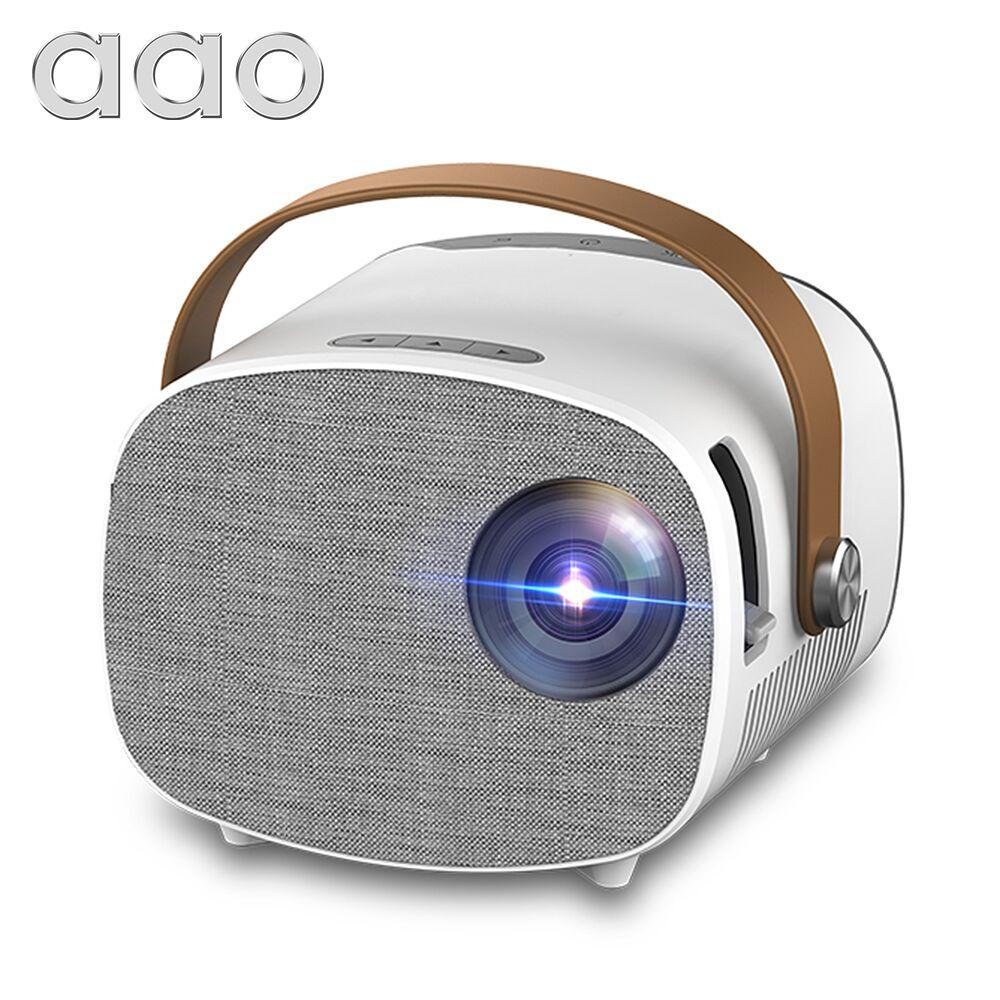 AAO YG230 Mini Projector Portable for Support 1080P Video Movie Beamer Home Theater Media Player Child Gift
